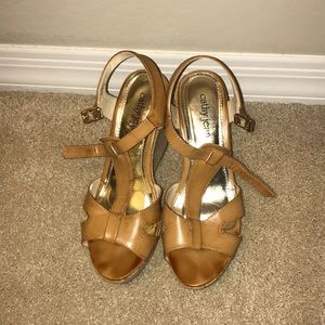 Cathy Jean Shoes - Cathy Jean Brown Wedges (size 10)